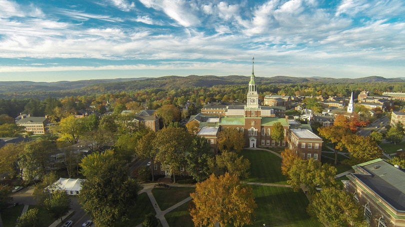 A aerial view of Dartmouth's campus