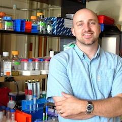 Photo of Matt Wargo in his lab.