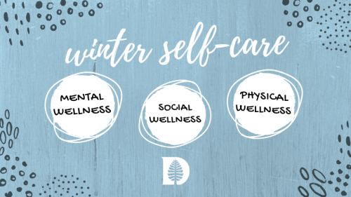 winter self-care illustration