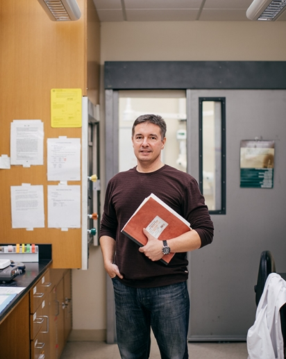 Professor David Bucci in his lab.