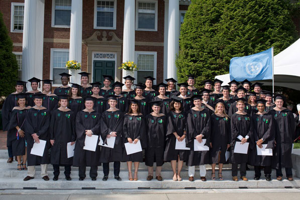 Tuck award winners gather during the Investiture ceremony on June 13.