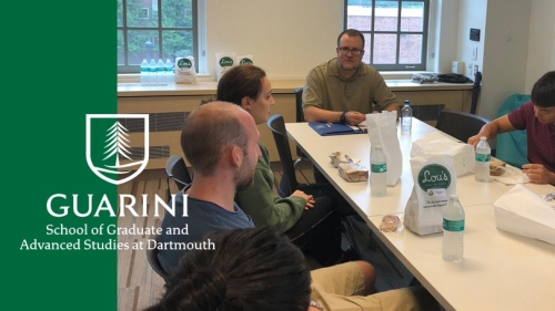 Chris Junk Chemistry alum visits to discuss his career after academia with current grads
