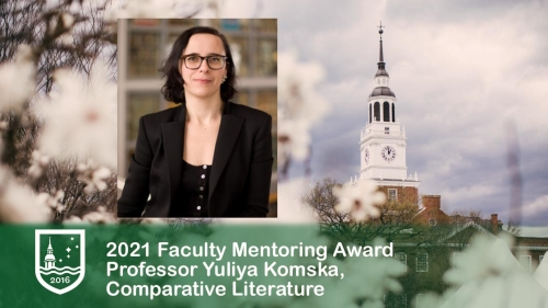Yuliya Komska faculty mentoring award recipient