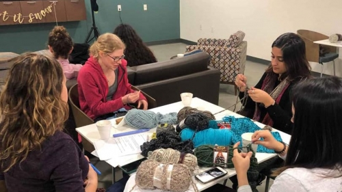 crafting is one of the activities you can find in the graduate social space on campus