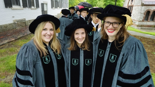 Amanda Socha PhD Biological Sciences, Jaclyn Sullivan PhD Experimental and Molecular Medicine, and Shannon Steinberg, PhD Molecular and Cellular Biology
