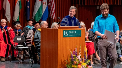Christopher Carroll, Physics and Astronomy, receives award for teaching at 2018 Investiture