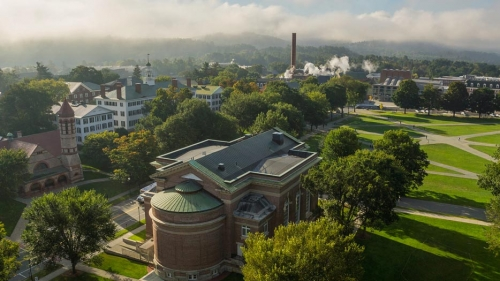 Dartmouth campus aerial shot