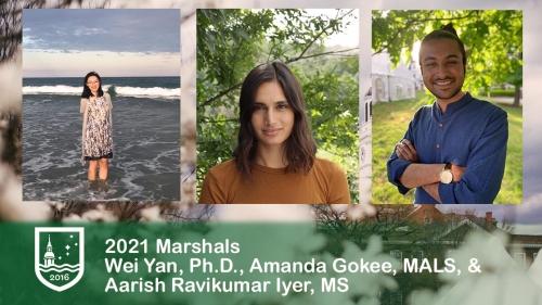 marshals 21 Wei Yan, Amanda Gokee, Aarish Iyer