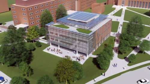 Architectural rendering of Anonymous Hall