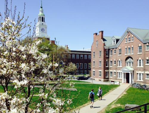 Dartmouth campus in Spring