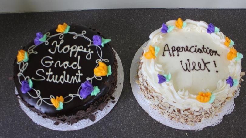 grad appreciation week cakes