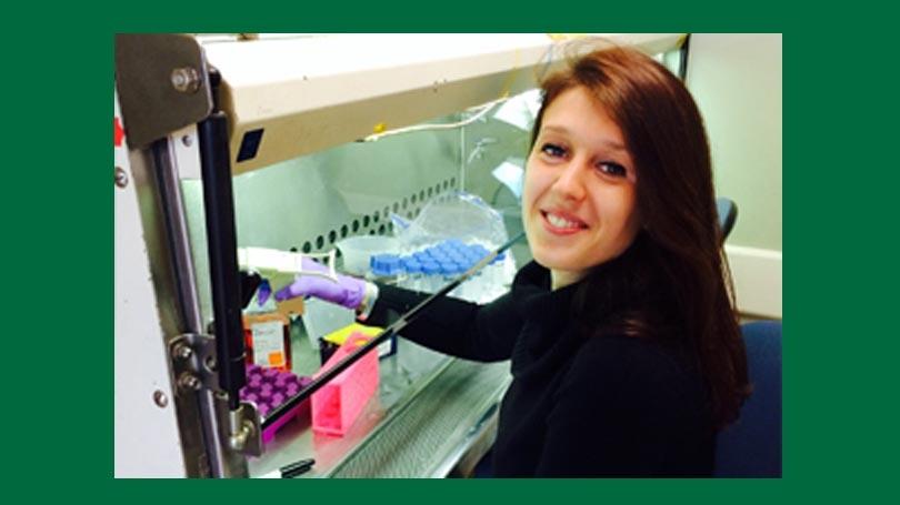 Alumni Awardee Stela Celaj in the lab