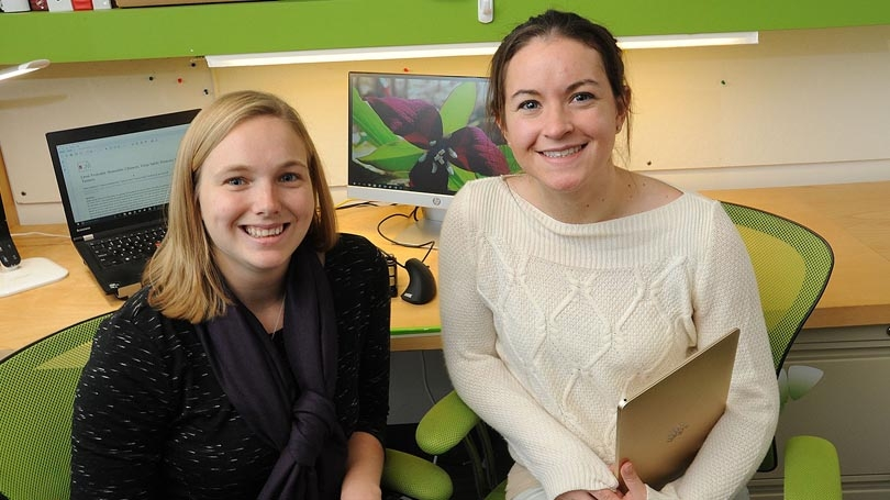 Heidi Chapman and Riley Hamsch, 2017 Celdera Fellows