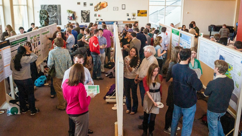Students present their reserch at the annual Graduate Student Poster Session