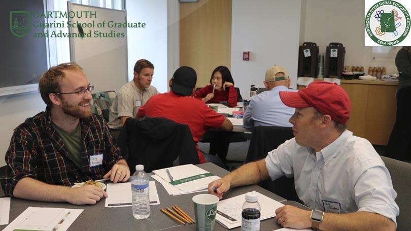 graduate mentor meets with SEPA partnership educator