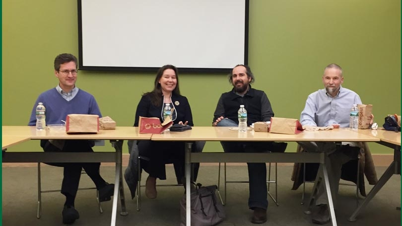 faculty panel at Dartmouth
