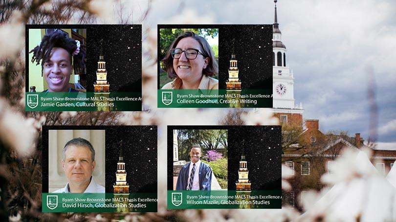 mals theiss award recipients: Jamie Garden, Colleen Goodhue, David Hirsch, Wilson Mazile
