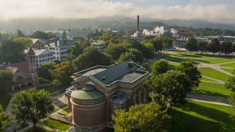 Dartmouth campus aerial shot