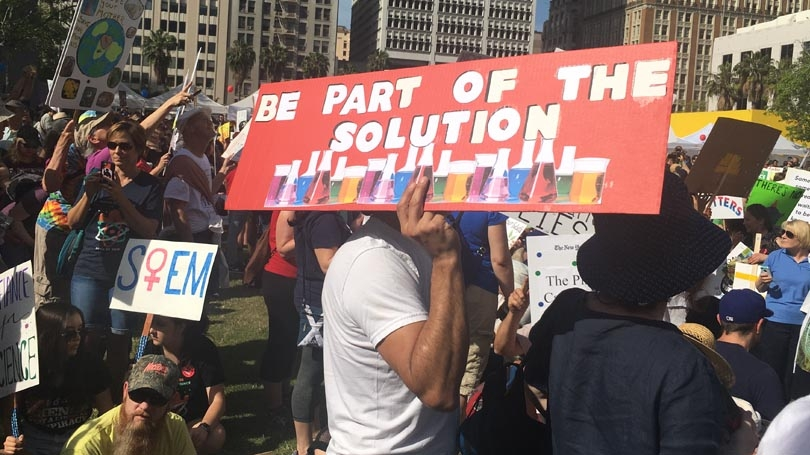the march for science in los angeles images of protest signs