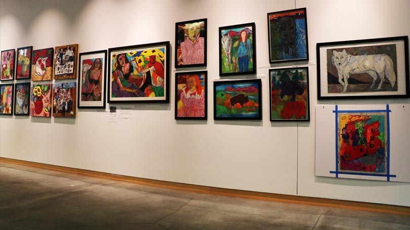 Nan Darham's work is on display at the Black Family Arts Center in Hanover