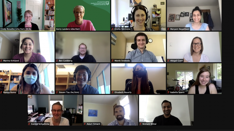 some of the participants in the virtual mentor training