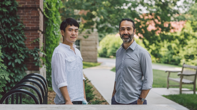 Sirun Yang, Guarini '22, and Ivan Aprahamian